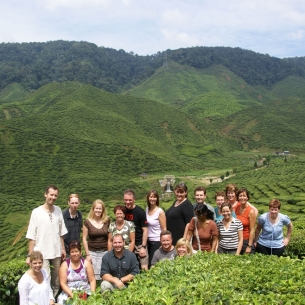 Groepsfoto in de Cameron Highlands